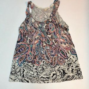 Anthropologie Meadow & Rue Paisley & Floral Tank